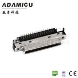 ADAMICU亚当厂家 母座vhdci68pin连接器 90°插板接线端子