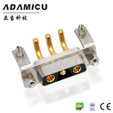 high current power connector solder pin angled female 3v3 connector