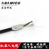 机器人电缆6芯 防紫外线编码线 3X2X0.3mm 东莞厂家